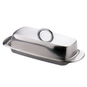 Danesco Stainless Steel Covered Butter Dish