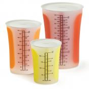 Chef'n SleekStor Pinch & Pour 3-Piece Measuring Beaker Set with