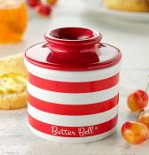 Butter Bell Red Stripe Butter Crock