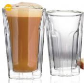 Danesco Set of 2 Double Walled Latte Glasses