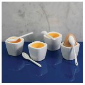 BIA Cordon Bleu Set of 4 Egg Cups with Spoons