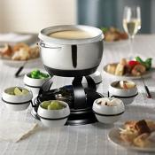 Trudeau Gyro 3 in 1 Lazy Susan Fondue Set
