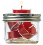Jarware Tealight Holder Mason Jar Lid