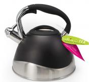 Danesco Ch'a 2.5L Stainless Steel / Black Whistling Kettle