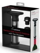Metrokane Rabbit Vacuum Wine Preserver with 2 Stoppers