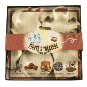 Fox Run Pirate's Treasure Cookie Cutter Set
