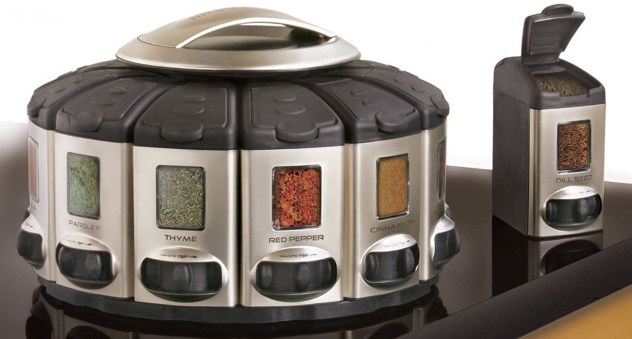 KitchenArt Satin Select A Spice Auto Measure Spice Carousel 1
