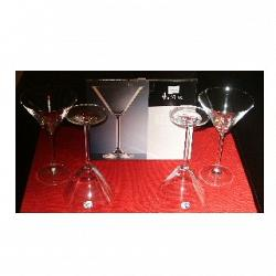 Set of 4 Cocktail Glasses by Bohemia Crystal 1