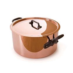 Mauviel M\'heritage M\'250 Copper Stew Pan with Lid 6.1L 1