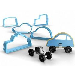 Bakelicious Car Cookie Cutter Set with Wheels 2
