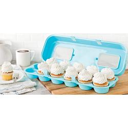 Bakelicious Blue Cupcake Holder Carton 1