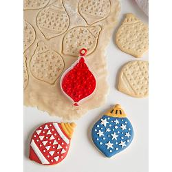 Bakelicious Christmas Ornament Flip & Stamp Cookie Cutter 1