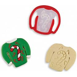 Bakelicious Candy Cane Ugly Sweater Cookie Cutter 1