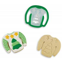 Bakelicious Christmas Tree Sweater Cookie Cutter 1
