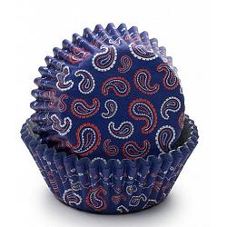 Fox Run Blue Bandana Baking Cup Set of 50 1