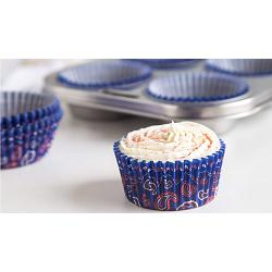 Fox Run Blue Bandana Baking Cup Set of 50 2
