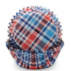 Fox Run Blue & Red Madras Baking Cup Set of 50 1