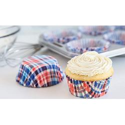 Fox Run Blue & Red Madras Baking Cup Set of 50 2