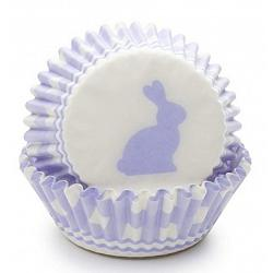 Fox Run Purple Gingham Bunny Baking Cup Set of 50 1