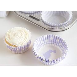 Fox Run Purple Gingham Bunny Baking Cup Set of 50 2