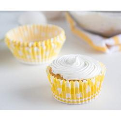 Fox Run Yellow Gingham Bunny Baking Cup Set of 50 2