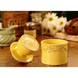 Butter Bell Antique Goldenrod Butter Crock 1