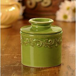 Butter Bell Antique Vert Green Butter Crock 1