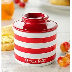 Butter Bell Red Stripe Butter Crock 1