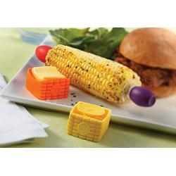 Outset Set of 4 Butter Buddies Corn Butter Spreaders 1