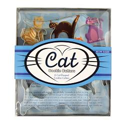 Fox Run Cat Cookie Cutter Set 1