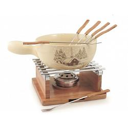 Swissmar Chalet Ceramic Cheese Fondue Set 1