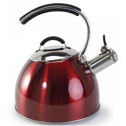 Danesco CH\'A Tea 2.5L Red Whistling Kettle 1