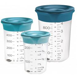 Chef\'n SleekStor Pinch & Pour Silicone Measuring Beaker Set 1