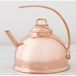 Mauviel M\'tradition 3L Copper Plated Tea Kettle 1