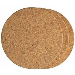 Fox Run Set of 3 Round Cork Trivets 1