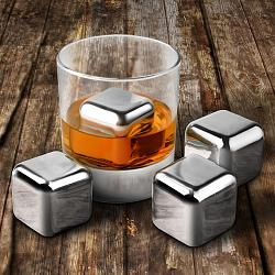 Cuisinox Set of 4 Reusable Stainless Steel Ice Cubes 1