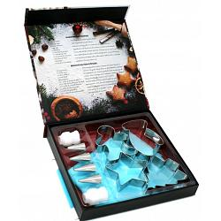 Danesco Christmas Cookie Cutter & Decorating Set 1