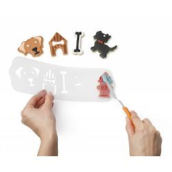 Chef\'n Cookease Dog Cookie Cutter & Stencil Set 1