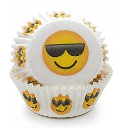 Fox Run Sunglasses Emoji Baking Cup Set of 50 1