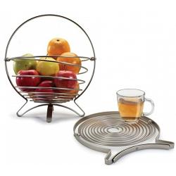 Danesco Stainless Steel Foldable Fruit Basket / Trivet 1