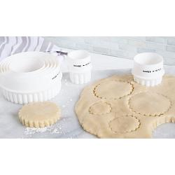 Fox Run Plain & Crinkled Double Sided Cookie Cutter Set 1