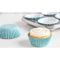 Fox Run Elegant Blue Foil Lined Baking Cup Set of 24 1