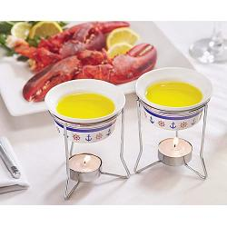 Fox Run Nautical Butter Warmer Set of 2 1