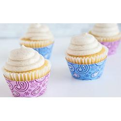 Fox Run Paisley Pink & Blue Cupcake Wrap Set of 12 1