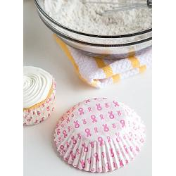 Fox Run Pink Ribbon Baking Cup Set of 75 1