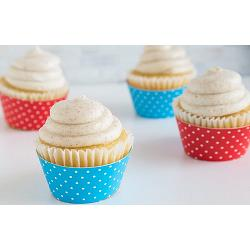 Fox Run Polka Dot Blue & Red Cupcake Wrap Set of 12 1