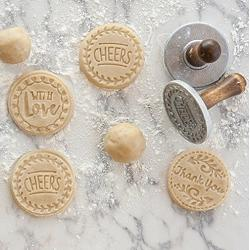 Nordic Ware Set of 3 Greetings Heirloom Christmas Cookie Stamps 1