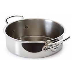 Mauviel M\'cook 3L Stainless Steel Rondeau Saute Pan with Lid 1