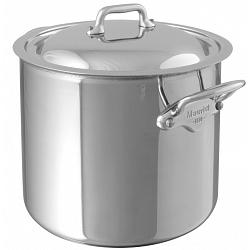 Mauviel M\'cook 9.2L Stainless Steel Stock Pot with Lid 1