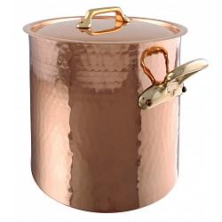 Mauviel M\'tradition Copper 17L Stock Pot with Lid 1